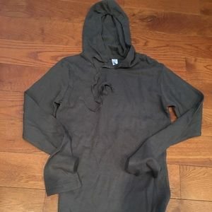 Tops - New gray ribbed hoodie.